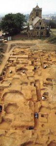 Saxon palace excavation