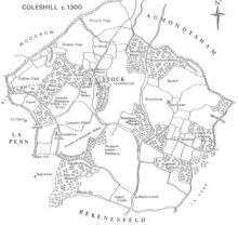 map of Coleshill 1300