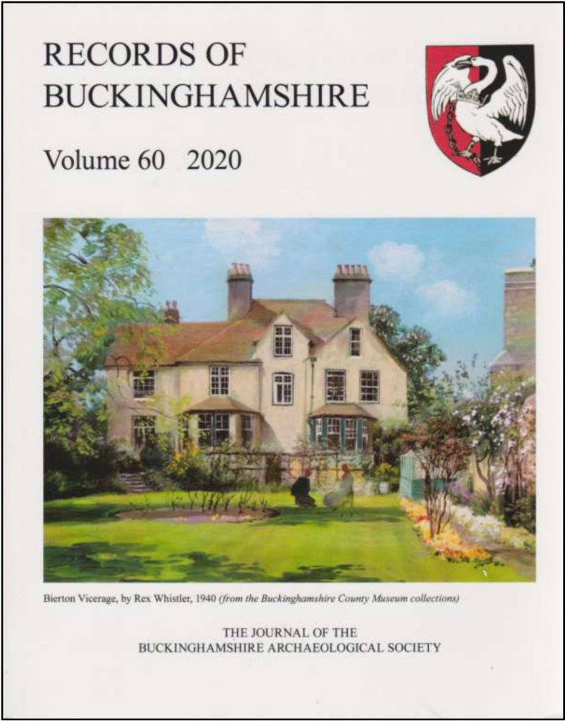 Records of Bucks cover showing Bierton Vicarage.