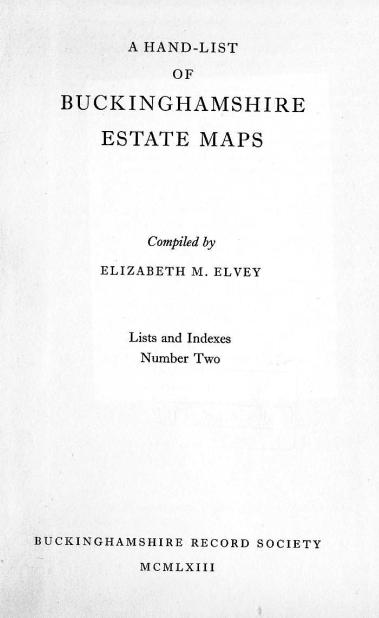 Estate Maps List